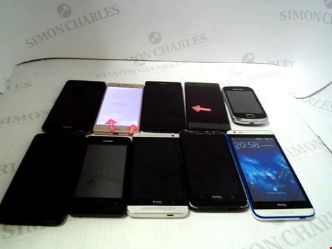 Lot 675 LOT OF APPROXIMATLEY 10 ASSORTED MOBILE PHONES AND SMARTPHONES ETC