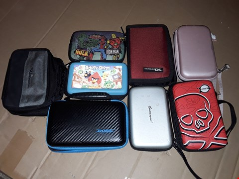 Lot 173 LARGE LOT OF ASSORTED GAMING CASES TO FIT DS/PEP AND GAMEBOY