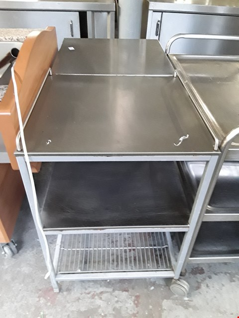 Lot 11 COMMERCIAL STAINLESS STEEL SERVING TROLLEY