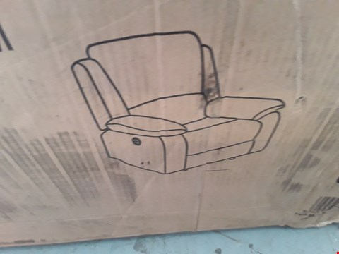 Lot 94 DESIGNER BOXED POSTANA FABRIC AND LEATHER POWER RECLINING ARMCHAIR  RRP £380.00