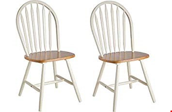 Lot 2006 BOXED GRADE 1 SET OF 4 WHITE/NATURAL KENTUCKY CHAIRS (2 BOXES) RRP £120