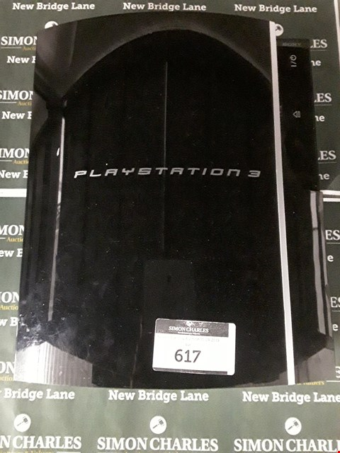 Lot 617 SONY PLAYSTATION 3 CONSOLE