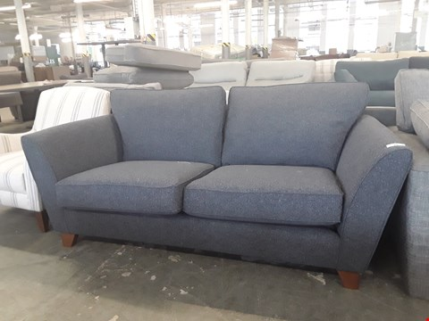 Lot 23 QUALITY BRITISH DESIGNER CHARCOAL FABRIC 2 SEATER SOFA