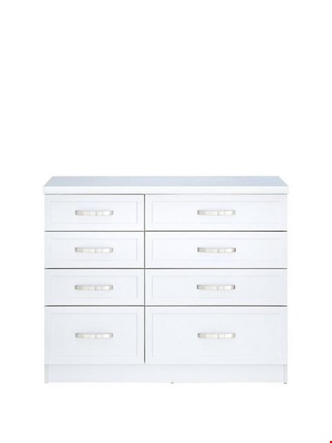 Lot 252 BOXED CAMBERLEY WHITE 4+4 GRADUATED CHEST (1 BOX) RRP £224.99