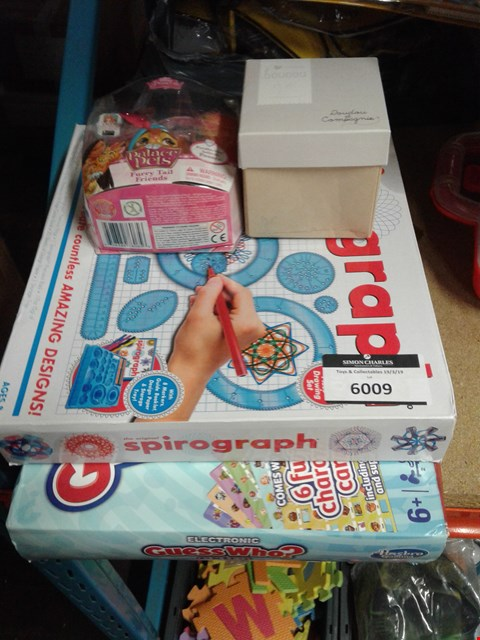 Lot 6009 LOT OF 4 ITEMS TO INCLUDE - PALACE PETS - SPIROGRAPH - GUESS WHO