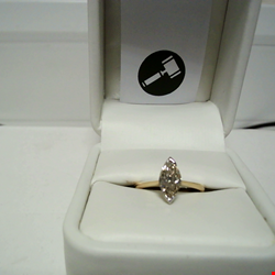 Lot 3 18CT GOLD SOLITAIRE RING SET WITH A MARQUISE CUT DIAMOND WEIGHING +1.04CT RRP £3450.00