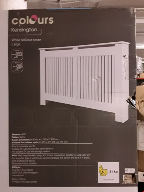 Lot 3185 COLOURS KENSINGTON LARGE WHITE RADIATOR COVER H900 X W1710 X D200 MM