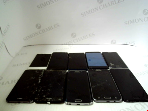 Lot 3370 LOT OF 10 ASSORTED SMARTPHONES; VARIOUS MAKES AND GRADES