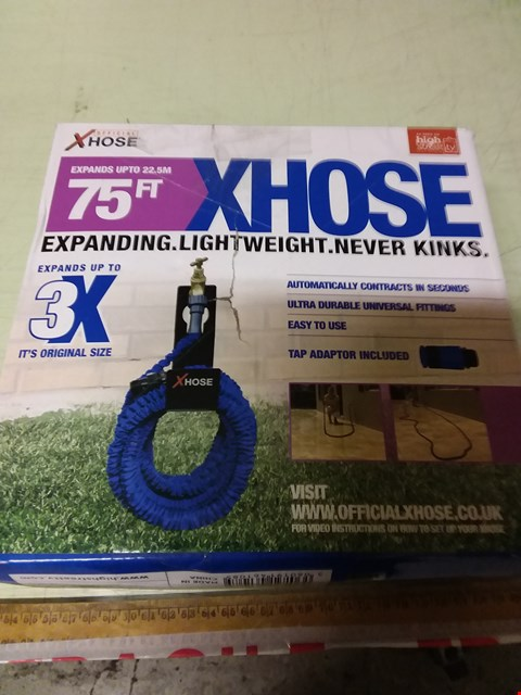 Lot 1205 LOT OF 7 X BOXED XHOSE 75FT EXPANDING GARDEN HOSES