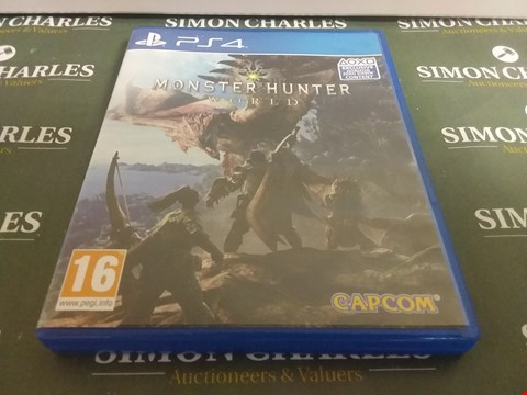 Lot 1057 MONSTER HUNTER WORLD PLAYSTATION 4 GAME