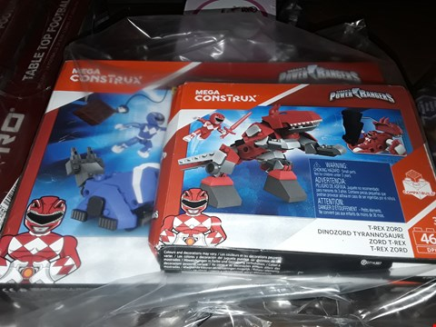 Lot 5049 POWER RANGERS 2 PIECE MEGA CONSTRUX RRP £139.99