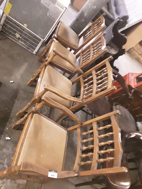 Lot 8041 SET OF 4 WOODEN CHAIRS