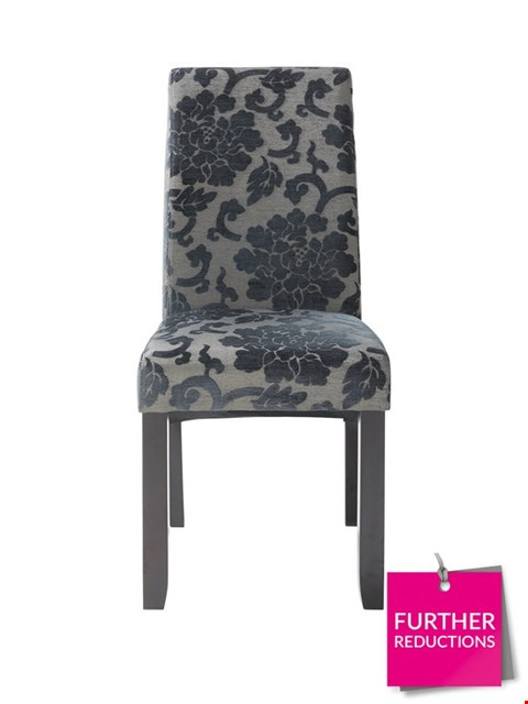 Lot 43 BOXED PAIR OF OXFORD FABRIC DINING CHAIRS IN BLACK RRP £169.00