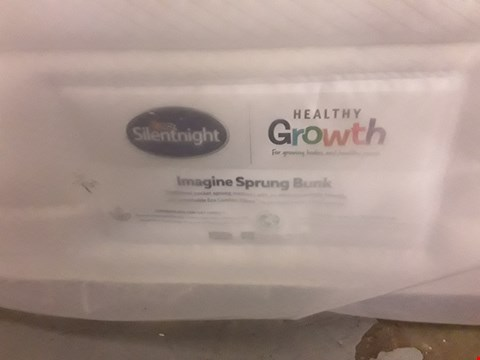 Lot 170 DESIGNER BAGGED 75CM SILENTNIGHT IMAGINE SPRUNG BUNK MATTRESS