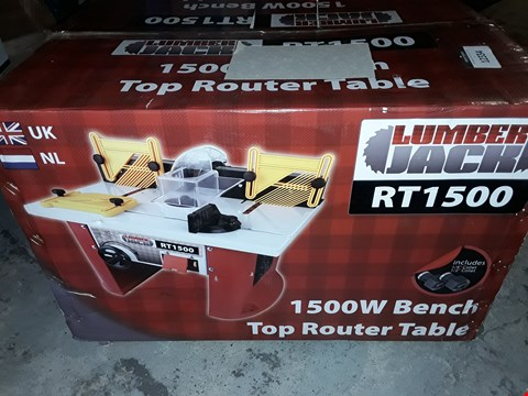 Lot 12334 LUMBER JACK RT1500 BENCH TOP ROUTER TABLE