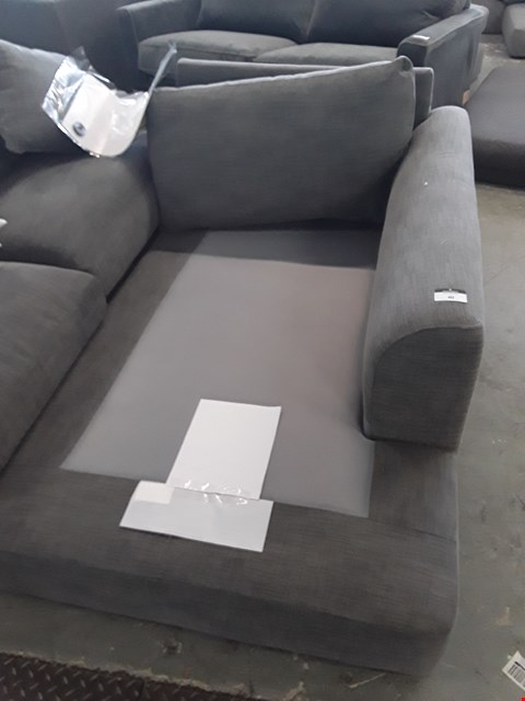 Lot 7124 DESIGNER GREY FABRIC SOFA SECTION