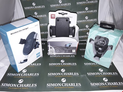 Lot 168 LOT OF 3 ASSORTED AUTO ITEMS TO INCLUDE WIRELESS CAR CHARGER,WIRELESS CAR MOUNT CHARGER AND SMARTPHONE HOLDER