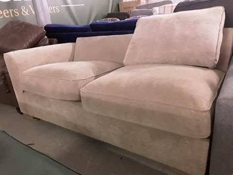 Lot 291 FAWN FABRIC THREE SEATER SECTION