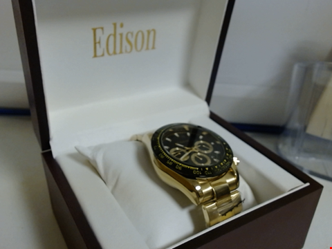 Lot 5618 DESIGNER EDISON WATCH WITH STAINLESS STRAP RRP £600.00
