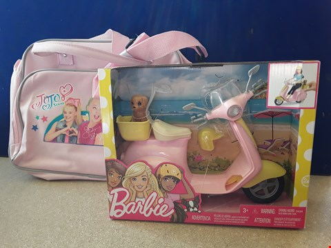 Lot 5068 TWO TOYS, INCLUDING BARBIE MOPED AND JOJO SIWA BAG