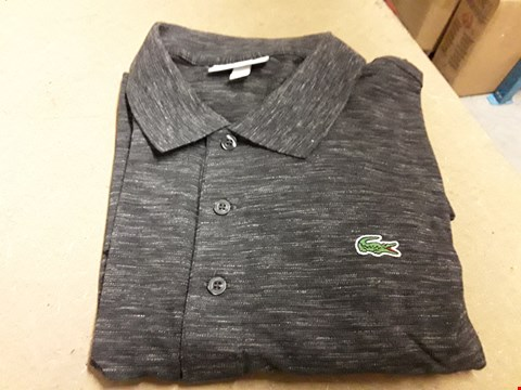 Lot 856 LACOSTE SPORT BASIC LOGO POLO CHARCOAL 6  RRP £95