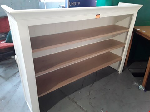 Lot 196 DESIGNER WHITE PAINTED DRESSER TOP WITH ADJUSTABLE NATURAL WOOD SHELVES RRP £859