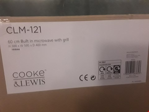 Lot 21 BOXED COOKE AND LEWIS 60CM INTEGRATED MICROWAVE WITH GRILL  RRP £170