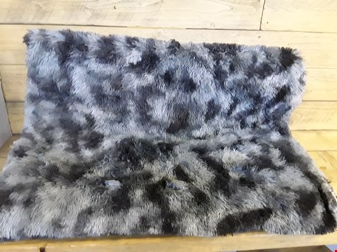 Lot 7207 GREY ANIMAL PRINT RUG (LARGE)