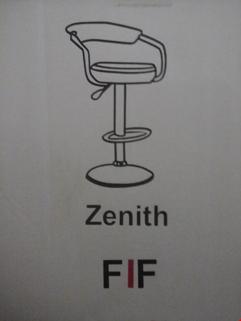 Lot 6034 FURNITURE IN FASHION 2 ZENITH GAS BAR STOOLS IN BLACK ( 1 BOX )