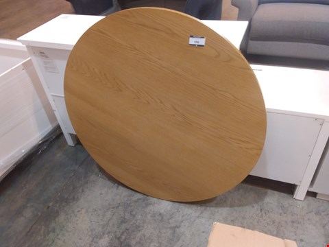 Lot 598 DESIGNER ROUND DINING TABLE TOP