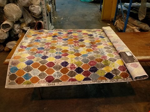 Lot 3063 DESIGNER 16TH AVENUE MULTICOLOURED RUG 120X170CM