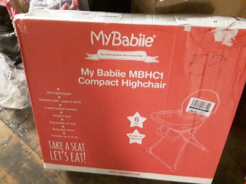 Lot 8470 BOXED MY BABIIE MBHC1 COMPACT HIGHCHAIR