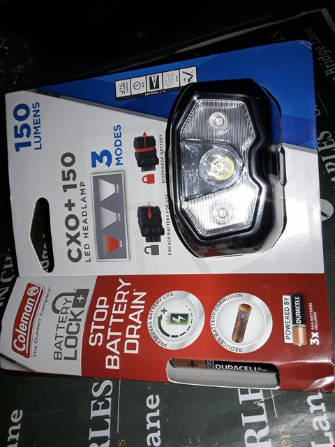 Lot 12209 Coleman cox x 150 led headlamp