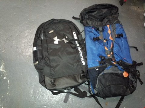 Lot 9077 BLACK UNDER ARMOUR BAG AND A TECHNICAL RUCKSACK