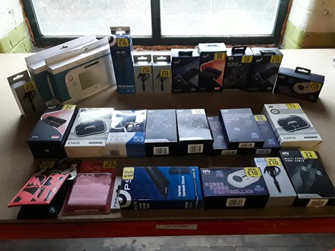 Lot 2260 BOX OF 26 BRAND NEW ITEMS TO INCLUDE: VERTICAL CONSOLE STAND, MULTI-FORMAT HDMI CABLE, WIRED TURBO CONTROLLER ETC