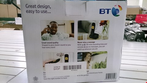 Lot 1411 BOXED BT 1600 TRIO CORDLESS HOME PHONE. RRP £80.00