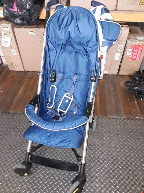 Lot 802 MY BABIIE MB51 BLUE CHEVRON STROLLER RRP £180