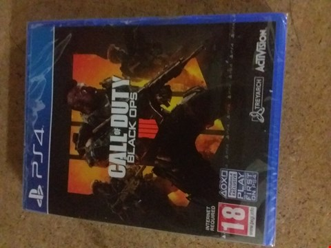 Lot 2560 CALL OF DUTY BLACK OPS FOR PS4