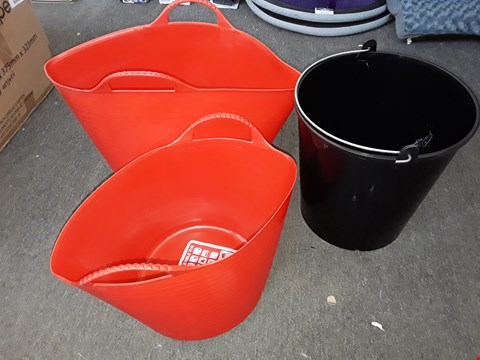 Lot 6091 LOT OF 3 ASSORTED BUCKETS