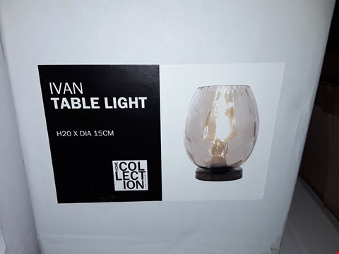 Lot 384 BOXED HOME COLLECTION IVAN TABLE LIGHT
