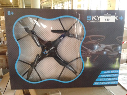 Lot 7499 BOXED SKY MAX PLUS DRONE WITH STORAGE BAG
