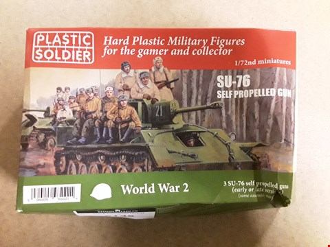 Lot 6145 BOXED PLASTIC SOLDIER COLLECTABLE WORLD WAR II SU-76 SELF PROPELLED GUN MODEL