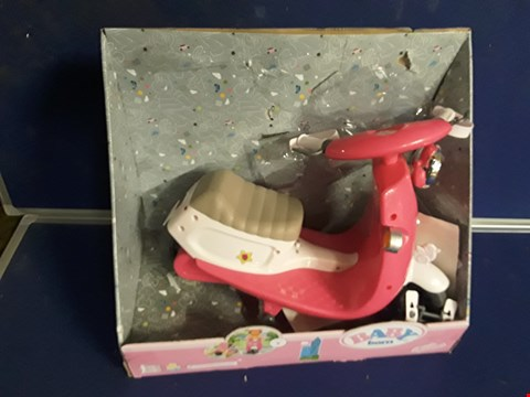 Lot 8396 BABY BORN CITY RC SCOOTER PINK RRP £55.00