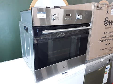 Lot 12018 SWAN XB70110SS 60CM BUILT IN SINGLE OVEN - BLACK