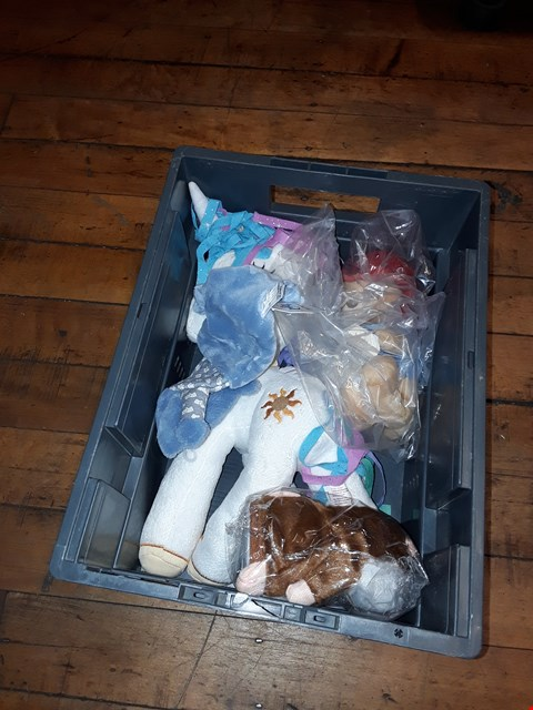 Lot 2113 A BOX OF APPROXIMATELY 8 ASSORTED CUDDLY TOYS