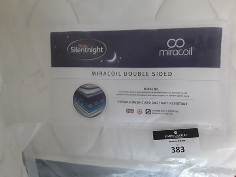 Lot 383 DESIGNER BAGGED 135CM SILENTNIGHT MIRACOIL DOUBLE SIDED MATTRESS