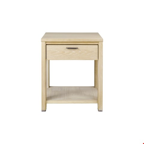 Lot 3014 CONTEMPORARY DESIGNER BOXED JENSON BLONDE OAK LAMP TABLE  RRP £328.00