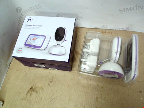 Lot 10661 BT VIDEO BABY MONITOR 6000 RRP £165.00