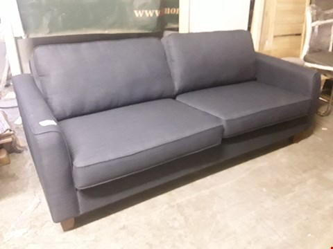 Lot 1074 DESIGNER CHARCOAL FABRIC THREE SEATER SOFA