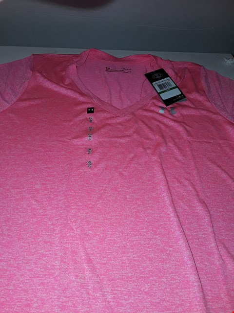Lot 768 BRAND NEW UNDER ARMOUR HEAT GEAR IN PINK  SIZE LG